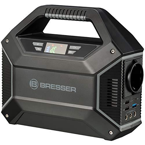 Bresser Estación de Carga móvil de 100 W para telescopios u Otros Dispositivos electrónicos con 3 Puertos USB y 1 Conector de 230 V.