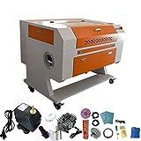 Cortador láser de CO2 de 60W 700X500mm Máquina de corte por grabado láser Grabador láser + Enfriador de agua CW5000 (60W + CW5000)