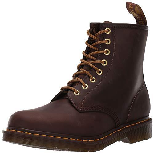 Dr. Martens 1460 Milled Smooth, Scarpe Stringate Basse Brogue Unisex-Adulto, Marrone (Aztec), 48