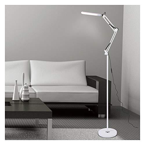 Stehlampe, Wohnzimmer LED Stehleuchte Wirtschaftliche Stehlampe Standlampe Stehlampe Torchiere Light Augenschutz Stehleuchte lernen vertikale Tischlampe Klapplampe-White-Touch