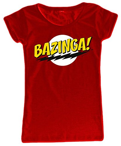 Video Delta - The Big Bang Theory: Bazinga Red Shirt, dames, in maat M