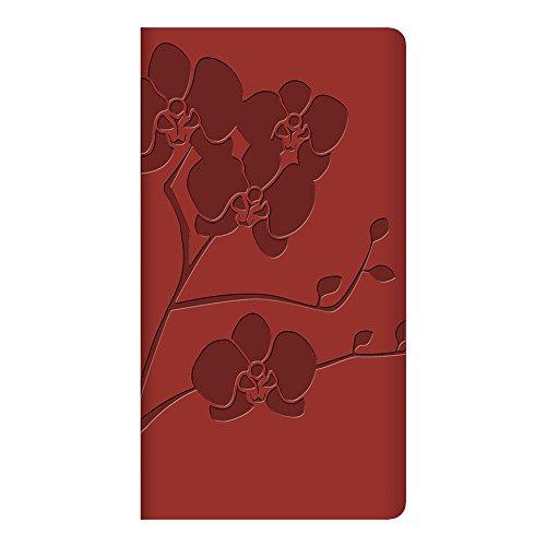 Letts CB3N01-2016 Wochenplaner mit Blütenmuster, Burgunderrot, englisch, 15,2 x 7,9 cm