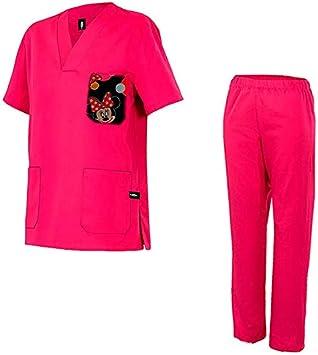 Robin Hat - Pijama Sanitario Modelo: Mickey - Talla L - Rosa ...