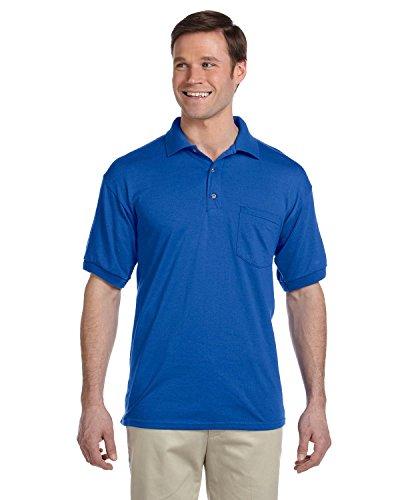 Gildan Men's Moisture Wicking Pocket Jersey Polo Shirt