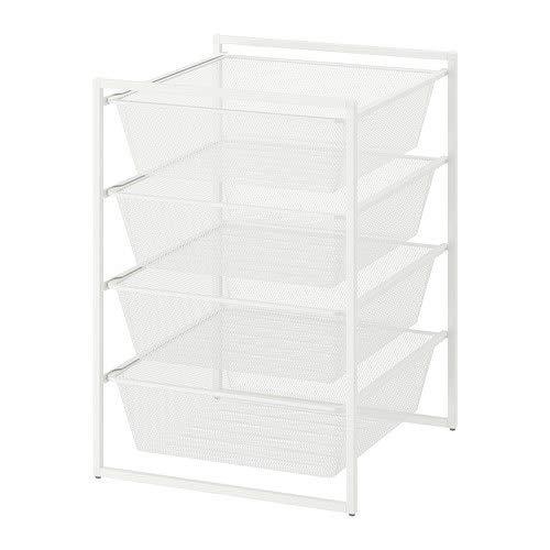 IKEA/イケア JONAXEL:フレーム/メッシュバスケット4個付き50x51x70 cm ホワイト (692.971.45)