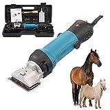 Cortadoras de caballos profesionales, tijeras eléctricas para el cuidado del pelaje de 6 velocidades de alta resistencia, juego de tijeras de aseo para ganado, cabras, caballos, ganado, perros grandes