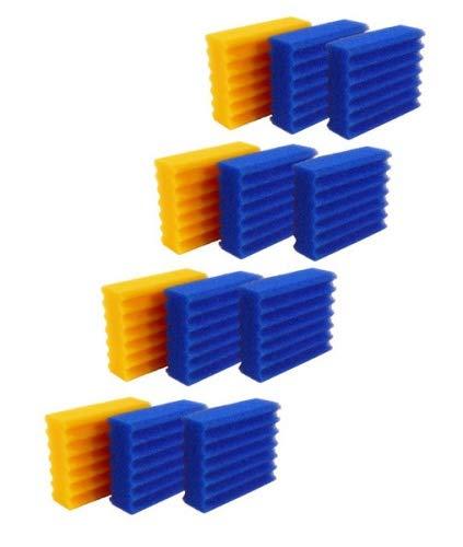 Pondlife Ersatzteil für CBF-Teichfilter - CBF-350C Ersatz-Filterschwämme 8X blau, 4X gelb