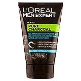 L'Oréal Men Expert L'Oréal Paris Men Expert Scrub Esfoliante Viso Detox Pure Charcoal, Formula Arricchita con Carbone Vegetale Char.EXFO.100, Negro, Estándar