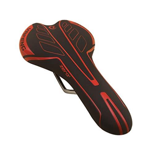 Yowablo Fahrrad Gel Cruiser Extra sportliches Soft Pad Sattelsitz Komfort Breites Big Bum Bike (Rot)
