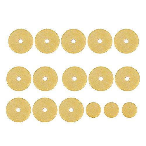 Juego de almohadillas de flauta de material de fieltro duradero de 16 piezas, almohadillas de orificio abierto para flauta, gran pieza de repuesto