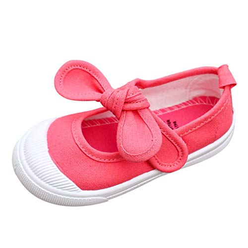 Zapatillas para Niñas Lona Verano Otoño 2019 PAOLIAN Zapatos de Vestir Niñas Fiesta Princesa Calzado de Deportes Colegio Suela Blanda 25-35 EU