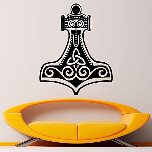 zqyjhkou Viking 's Hammer Wandaufkleber Quake wasserdicht Vinyl Aufkleber Interior Wohnzimmer Removable Home Interior Art Decor 85x68cm