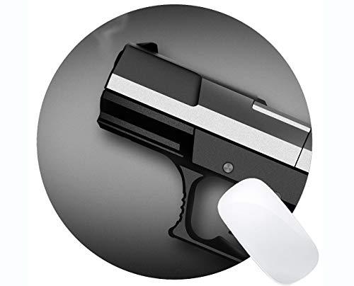 Yanteng su Propio Mousepad Personalizado, Pistola Pistola Arma Base Redonda Alfombrillas de ratón