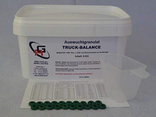 Orbis Auswuchtgranulat RG Truck-Balance 8 KG, Auswuchtperlen, Auswuchtpulver, Auswuchtmittel für LKW, LLKW und Bus 982200