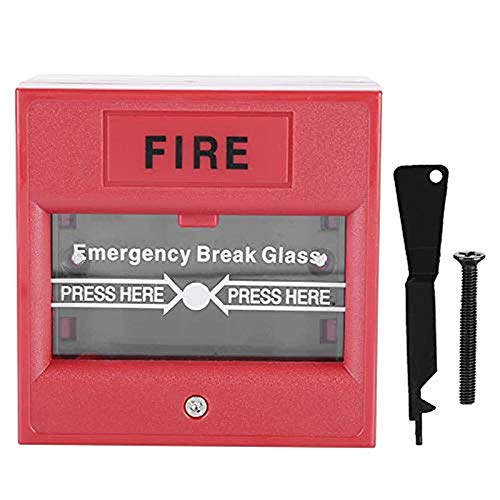 Funien Interruptor de Cristal Roto, Botón de Alarma de Apertura de Puerta de Emergencia Botón de Alarma de Alarma de Incendio Interruptor de Apertura de Salida de Vidrio de ruptura de Vidrio