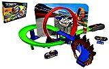 ARUNDEL SERVICES EU Coche de Juguete Juego de Carreras Bucle y Salto Juego de Coche de Juguete con Lanzador de energía
