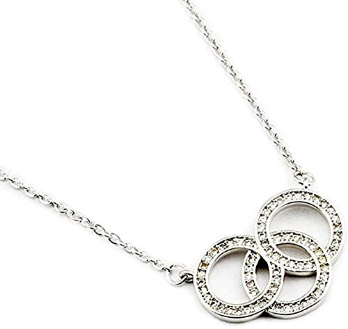 CAISHENY Necklace Three Geometric Circle Necklace Women Bridesmaid Gift Collar Choker Chain