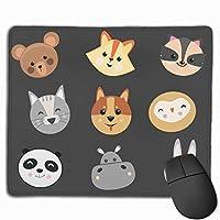マウスパッド アニマル マーク Mousepad ミニ 小さい おしゃれ 耐久性が良 滑り止めゴム底 表面 防水 コンピューターオフィス ゲーミング 25 x 30cm