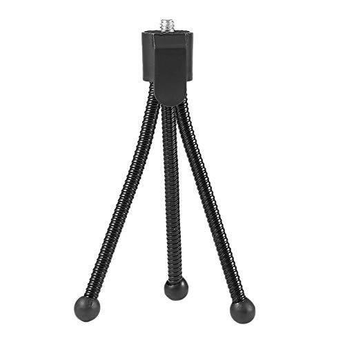 WEQQ Mini trípode de Metal portátil Flexible Universal para cámara Web cámara Digital Negro
