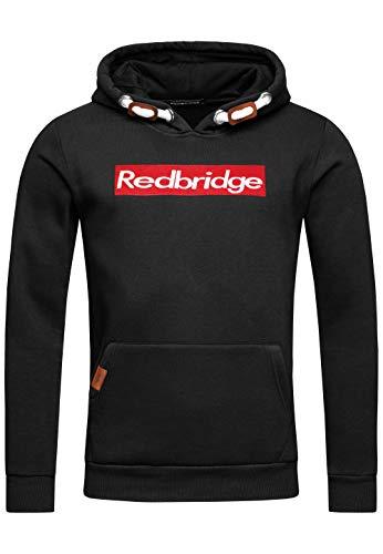 Redbridge Herren Kapuzenpullover Dicke Kordel Sweatshirt Hoodie Casual Pullover (XL, Schwarz)
