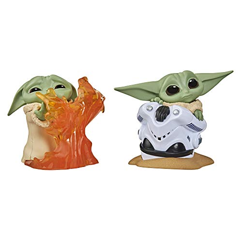 Star Wars The Bounty Collection Series 2 The Child Collectible Toys 2.2-Inch Helmet Hiding Pose, Stopping Fire Pose Figure 2-Pack
