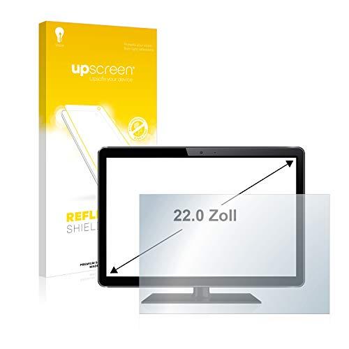 upscreen Entspiegelungs-Schutzfolie für 22 Zoll Industrie-Monitore (490 x 270 mm, 16:9) – Anti-Reflex Displayschutz-Folie Matt