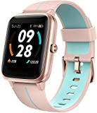 Blackview Montre Connectée GPS Femme, Smartwatch Montre Sport Podometre Cardiofrequencemètre Etanche 5ATM Natation Courir Montre Intelligente Vibrante Chronometre pour Huawei, Samsung & iPhone
