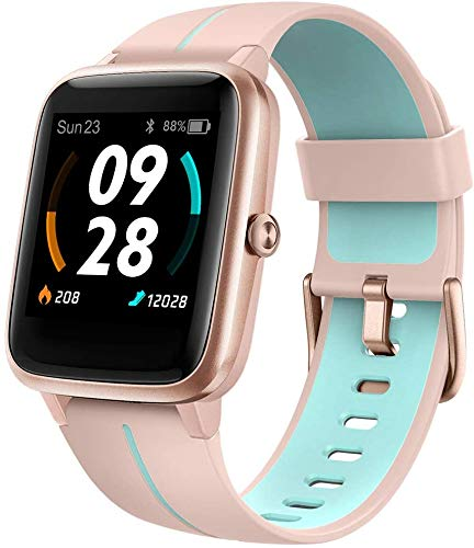 Blackview 205G Smartwatch GPS Damen, Smart Armbanduhr Frauen Fitness Tracker Smart Watch 5ATM Wasserdicht Fitnessuhr mit Schwimmüberwachung Pulsuhr Wearable Sportuhr Kompatibel iPhone Android Handy