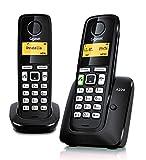 Gigaset A220 Duo- Teléfono Inalámbrico, Pack de 2 Unidades, Manos Libres