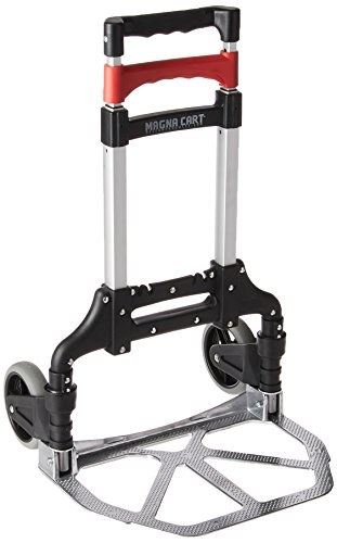 Magna Cart Personal 150 lb Capacity Aluminum Folding Hand Truck (Black/Red)