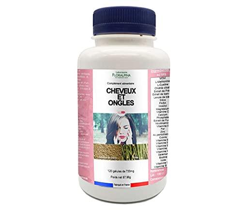 Complément alimentaire Cheveux et Ongles 120 gélules - Complexe d'actifs pour les cheveux et les ongles