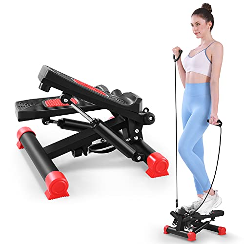 KWIKWI Stair Stepper Exercise Equipment for Home Workouts Mini Steppers for Exercise Workout with Resistance Bands