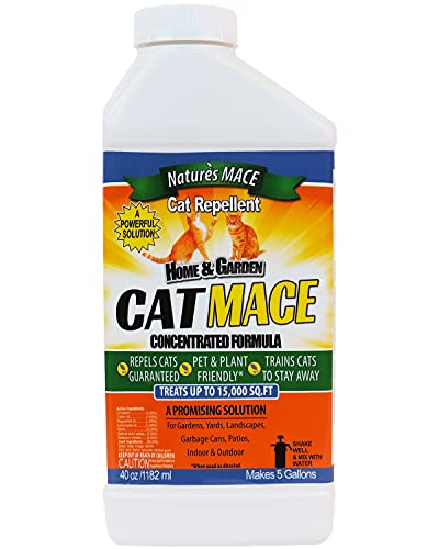 Nature's Mace Cat Repellent 40oz Concentrate/Treats 15,000...