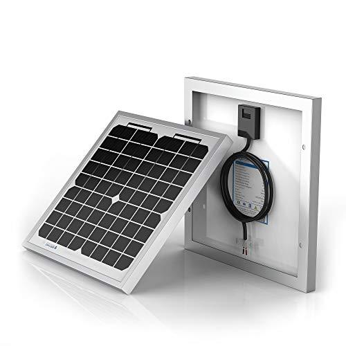 ACOPOWER HY010-12M 10 Watt 10W Mono Solar Panel for 12V Battery Charging RV Boat, Off Grid