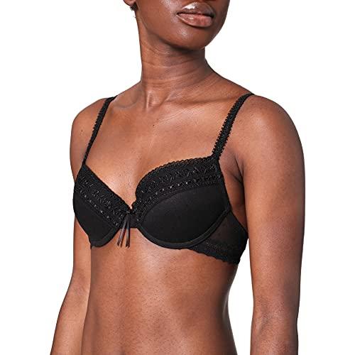 Selene - Sujetador Casandra Push Up, color negro, talla 85B