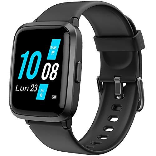 YAMAY Smartwatch con Saturimetro Misuratore Pressione Cardiofrequenzimetro Orologio Fitness Uomo Donna Impermeabile Smart Watch Touch Fitness Tracker Contapassi Cronometro Sveglia ECG per Android iOS