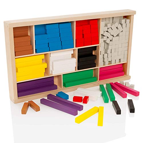 Learning Minds Hölzerne Mathe Ruten Set (Cuisenaire Ruten)