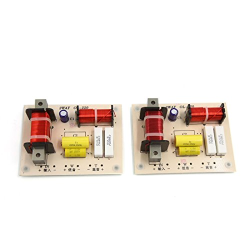 uxcell 2pcs 180W High Low 2 Way Crossover Filter for Audio Frequency Divider