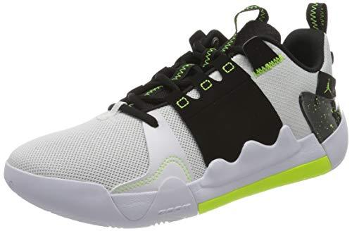 Nike Herren Jordan Zoom Zero Gravity Basketballschuhe, Mehrfarbig (White/Volt-Black 170), 44.5 EU