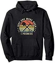 Geology Gifts Just One More Rock I Promise Funny Geologist Pullover Hoodie
