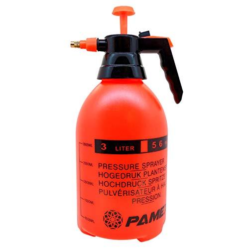 Acan Pamex - Botella pulverizar, sulfatar, 3 litros. Bomba de presión/vaporización con pulverizador, Boquilla de latón Ajustable, jardinería, riego de Flores y Plantas, Limpieza