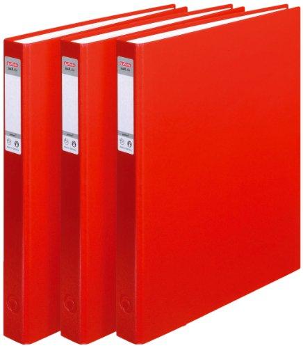clasificación y comparación Herlitz max file Protect – 2 anillos (3, A4), paquete de limas rojas para casa