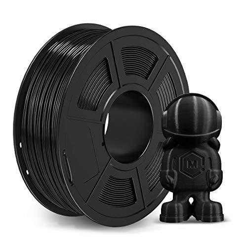 Carbon Fiber PLA 3D Printer Filament - 1.75mm Carbon Fiber Filament, 2kg(4.4lbs) PLA 3D Filament for 3D Printer 3D Pen, Dimensional Accuracy +/- 0.02mm, Carbon Fiber PLA