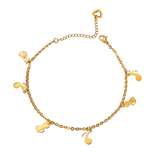 PROSTEEL Cat Pendant Anklets Ankle Bracelet Foot Chain Jewelry Metal Gold Plated Chain Beach Anklet