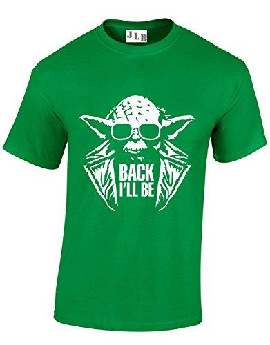 Men's Funny Yoda Terminator Back I'll Be T-shirt, Choice of Colours