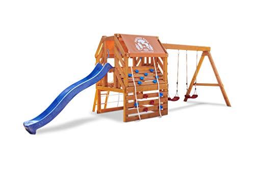 Little Tikes Panther Peak Hinterhof-Spielset für Kinder aus Echtholz