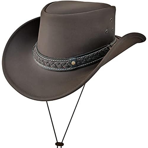Sombrero de Vaquero de ala Ancha Vintage Estilo Australiano Western Down Under Bush Hat