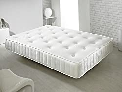 Memory foam sprung mattress moulds to your body offering a great nights sleep Medium feel, High quality open coil traditional Bonnell springs providing sleeping support and comfort Memory foam and Wool fillings moulded on high count spring unit Tradi...