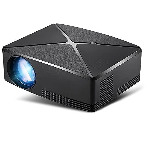 LZHYA Proyectores, Mini Proyector Portátil En Casa, Cine En Casa, Operación De Control Remoto, 1280 * 720Dpi, Wi-Fi, 40~120 Pulgadas, Instale La APLICACIÓN (Black)