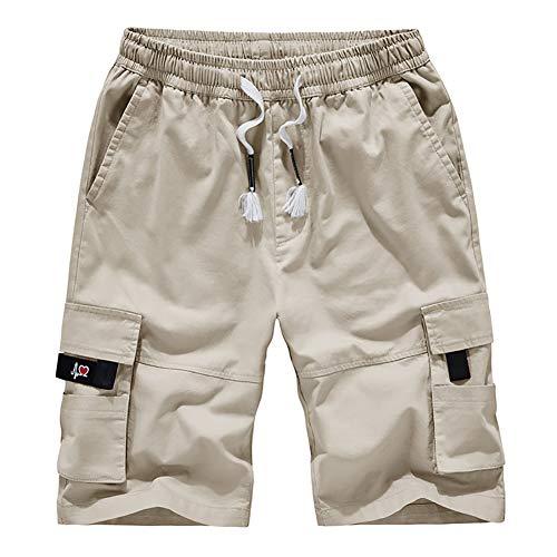 Casual Shorts Men's Lightweight Long Sturdy Cotton Survivor Outdoor Long Outdoor Cargo Short Lightweight Beige